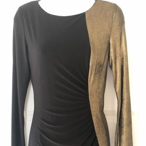 Anne Klein Black & Gold Dress